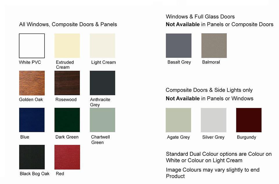 Costello Windows Colour Chart