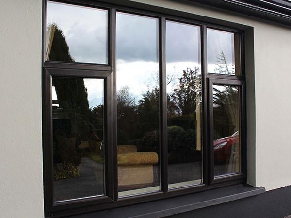 upvc window in black