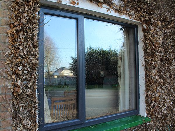 upvc window in grey
