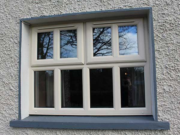upvc window in light cream