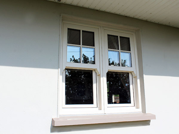white window outside view