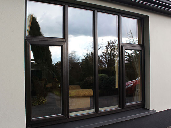 upvc window in black