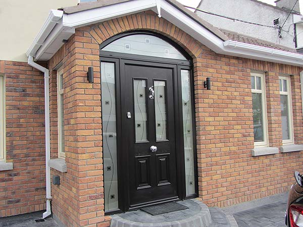 Black palladio door