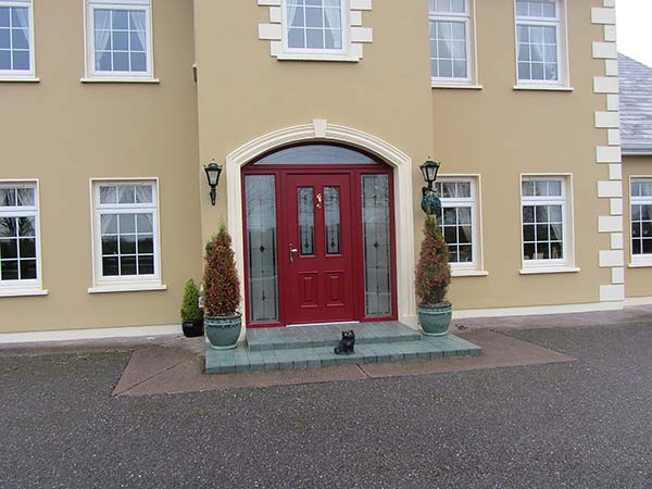 Red palladio door