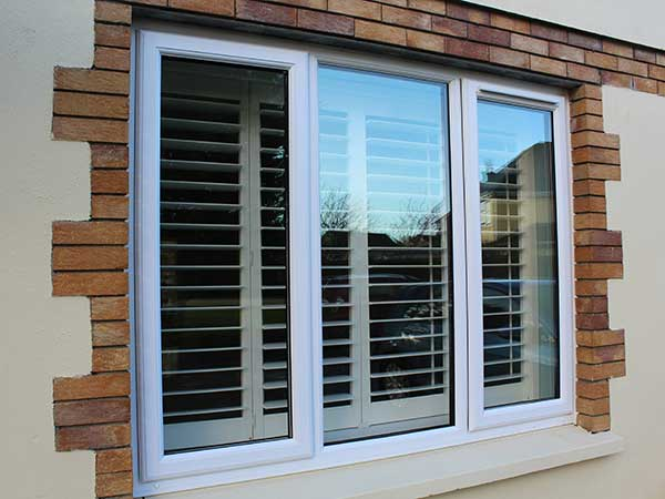 upvc window in white