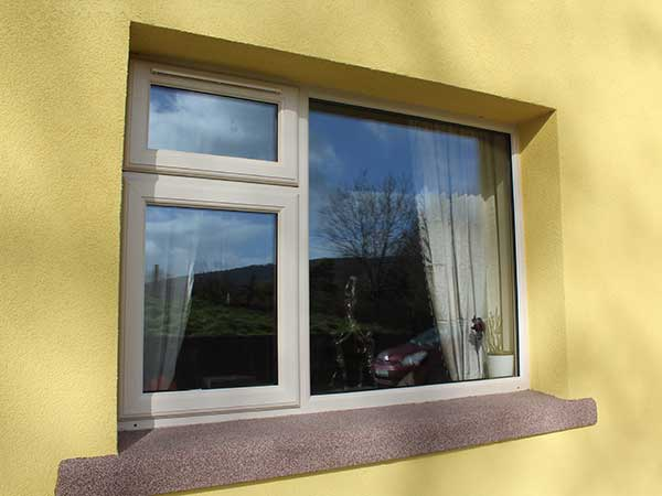 upvc window in light cream